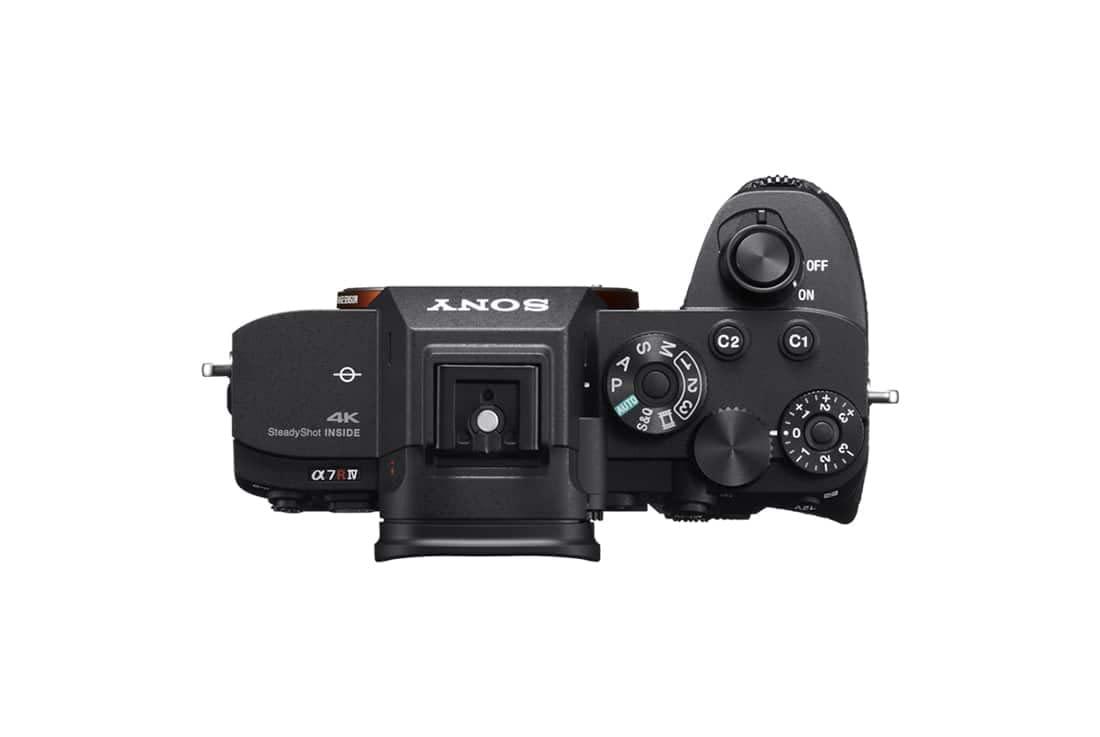 Sony Alpha a7R IV top